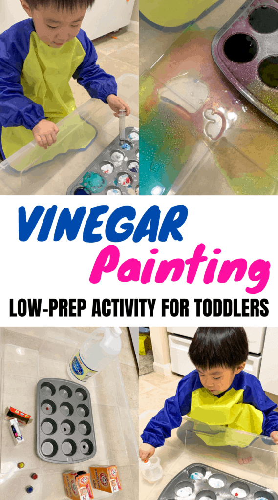 Vinegar Painting: This Activity Kept My Toddler Occupied For 45 Minutes!