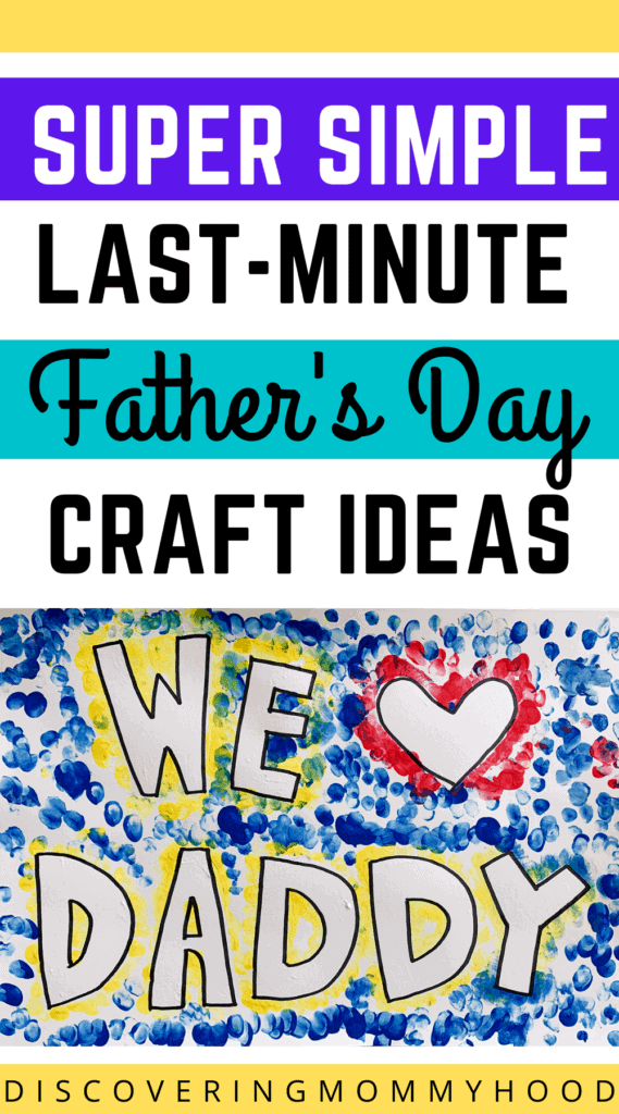 2 Super Easy, Last-Minute Father's Day Craft Ideas