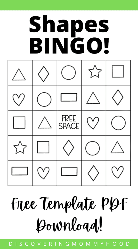 Shapes Unit Lesson Plan for Preschool at Home