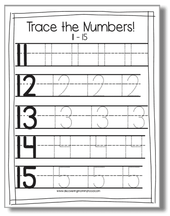 1-20 Counting and Number Activities for Preschool