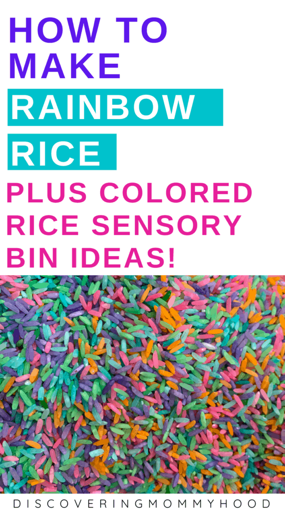 How to Make a Rainbow Rice Sensory Bin Activity for Toddlers and Preschoolers