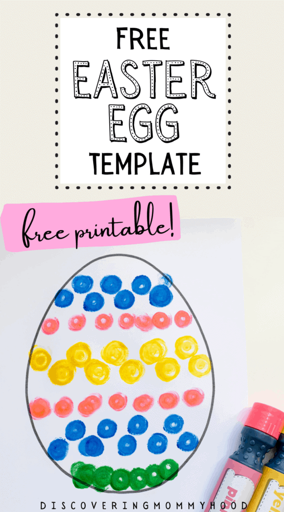 FREE Printable Paper Easter Egg Template