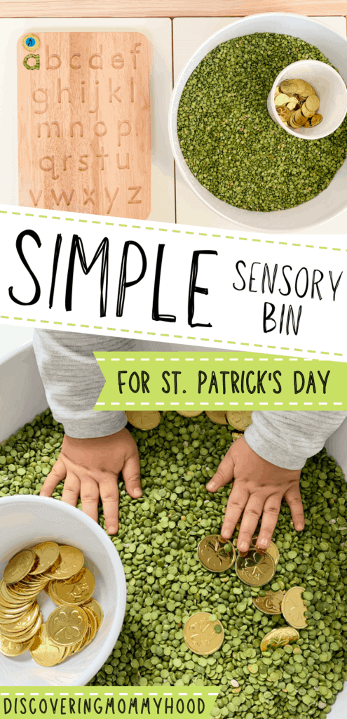 St. Patrick's Day Sensory Bin for Toddlers and Preschoolers