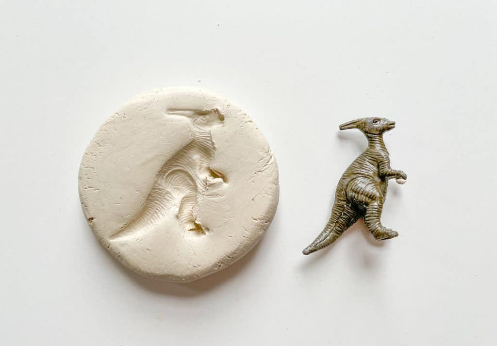 How to Make Dinosaur Fossils With Air Dry Clay