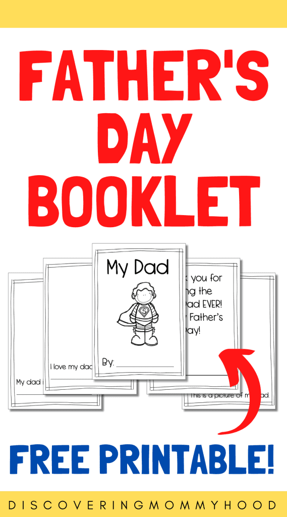 Free Father's Day Printable Booklet for Preschoolers