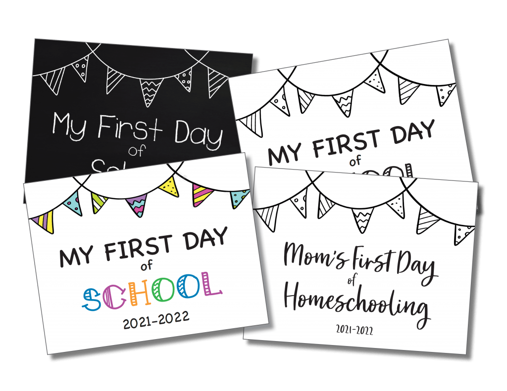 First Day of School Sign Free Printable 2021-2022