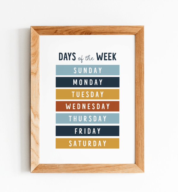 Days of the Week Frame